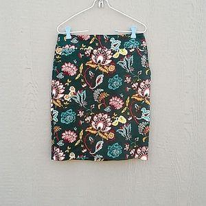 LOFT | Floral Pencil Skirt size 6